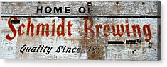 Old Schmidt Brewery  Acrylic Print