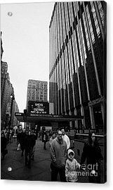 Outside Madison Square Garden New York City Winter Usa Acrylic Print by Joe Fox