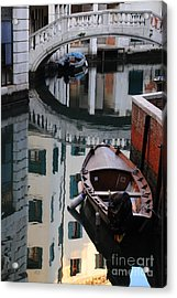 Oval Reflection Acrylic Print by Jacqueline M Lewis