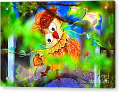 Owl Leaf Forest 2 Acrylic Print by Vin Kitayama