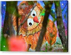 Owl Leaf Forest Acrylic Print by Vin Kitayama