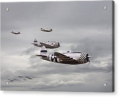 P47 Thunderbolt  Top Cover Acrylic Print by Pat Speirs