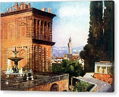 Palazzo Pitti  And Boboli Gardens Acrylic Print by Mary Evans Picture Library