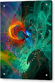 Parallel Reality - Colorful Digital Abstract Art Acrylic Print