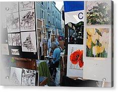 Paris Montmartre Place Du Tetre Acrylic Print by Jacqueline M Lewis
