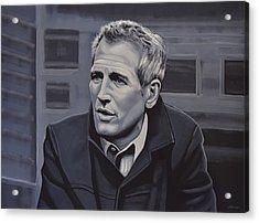 Paul Newman Acrylic Print by Paul Meijering