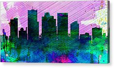 Phoenix City Skyline Acrylic Print by Naxart Studio