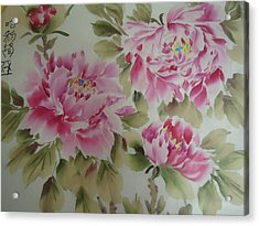 Pink  Peony 014 Acrylic Print