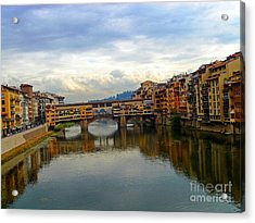Ponte Vecchio's Padlocks Acrylic Print