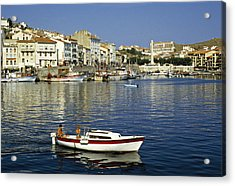 Port Vendres Harbour France 1980s Acrylic Print by David Davies