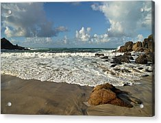 Porthmeor Cove In North Cornwall Acrylic Print