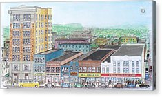 Portsmouth Ohio Dime Store Row 4th To 5th Acrylic Print