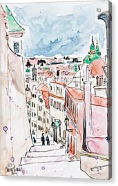 Prague Castle Steps Acrylic Print
