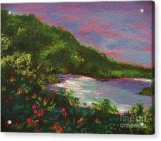 Ptg   Blue Lagoon Acrylic Print by Judy Via-Wolff