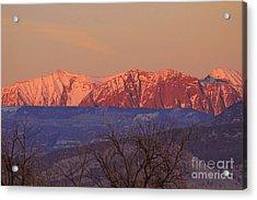 Radiant Ragged Mountain Evening Co II Acrylic Print