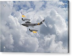 Raf Meteor - 1940s Cutting Edge Acrylic Print by Pat Speirs