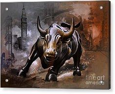 Raging Bull Acrylic Print by Andrzej Szczerski