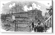 Rebuilding The Houses Of  Parliament Acrylic Print by  Illustrated London News Ltd/Mar