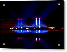 Reflecting Bridge - Indian River Inlet Bridge Acrylic Print