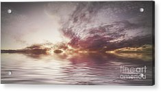 Reflection Of Mauve Skies Acrylic Print by Holly Martin