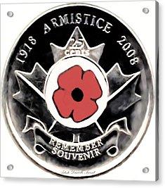 Remember Armistice Jour Du Souvenir  Acrylic Print by Danielle  Parent