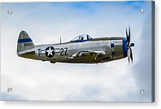 Republic P-47d Thunderbolt Acrylic Print by Puget  Exposure