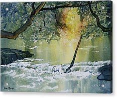 River Esk In Full Flow Acrylic Print