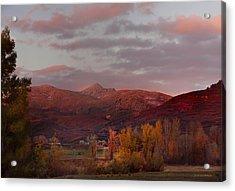 Rocky Peak Autumn Sunset Acrylic Print