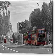 Routemaster London Buses Acrylic Print by Tony Murtagh