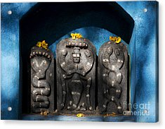 Rural Indian Hindu Shrine  Acrylic Print by Tim Gainey