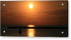 Sailboat A Drift Acrylic Print