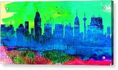 San Antonio City Skyline Acrylic Print by Naxart Studio