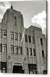 Santa Ana City Hall Building - 02 Acrylic Print by Gregory Dyer