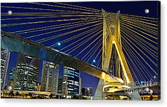 Sao Paulo's Iconic Cable-stayed Bridge  Acrylic Print