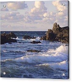 Seascape. Rocks. Normandy. France. Europe Acrylic Print by Bernard Jaubert