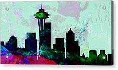 Seattle City Skyline Acrylic Print by Naxart Studio