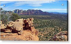 Sedona View From Roober Roost Acrylic Print by Sin D Piantek