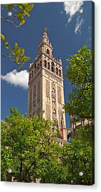 Seville Cathedral Belltower Acrylic Print by Viacheslav Savitskiy