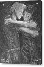 Shades Of Grey - Tango Dancers Acrylic Print by Nik Helbig