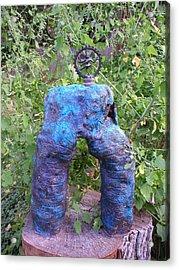 Shiva Shakti Yoga Sculpture Acrylic Print