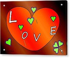 Simple  Love  Heart  - 505  Acrylic Print