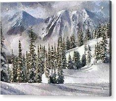 Snow In The Mountains Acrylic Print by Georgi Dimitrov
