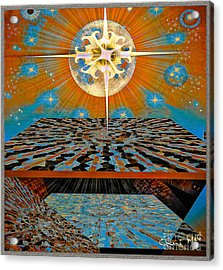 Acrylic Print featuring the digital art  Solar Energy by Eleni Mac Synodinos