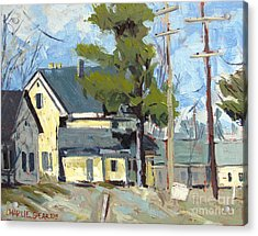 Sold Wabash Indiana Home Acrylic Print by Charlie Spear