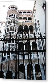 Spiral Staircase Acrylic Print by Jacqueline M Lewis
