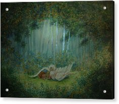 Spiritual  Transition -wings Of Joy Acrylic Print