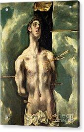 St Sebastian Acrylic Print by El Greco Domenico Theotocopuli