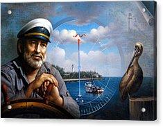 St. Simons Island Sea Captain 5 Acrylic Print