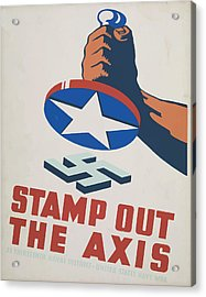 Acrylic Print featuring the mixed media  Stamp Out The Axis by American Classic Art