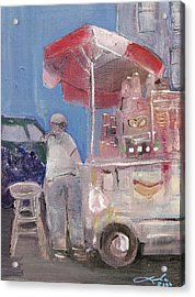 Stand On The Corner Acrylic Print by Leela Payne
